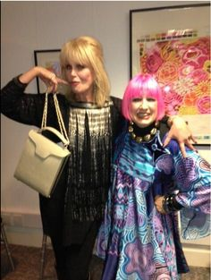 "The wonderful Joanna Lumley looks ""absolutely fabulous"" with her ""Ellie"" handbag!"