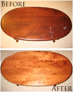How to refinish your coffee table. http://downshannonlane.com