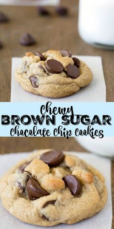 Chewy Brown Sugar Chocolate Chip Cookie