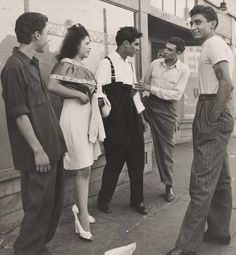 Fashionable youths from Los Angeles in the 1940's by Max Yavno