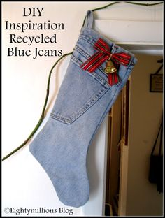 DIY Inspiration: Recycled Jeans Into Christmas Stockings