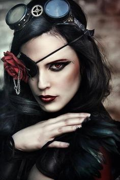 Steampunk evil lady http://www.makeupbee.com/look.php?look_id=60883