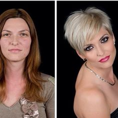 Super Hair Cuts Before And After Curly 35 Ideas Before After Hair, Before And After Haircut, Long To Short Hair, Short Grey Hair, Short Haircut, Pixie Haircut, Trendy Hairstyles, Bob Hairstyles, Pelo Guay