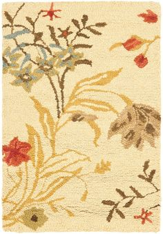 Country And Floral Area Rug Rectangle Beige Multi Color Safavieh Blossom Collection