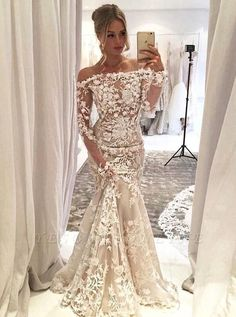 Long Sleeves Wedding Dress,mermaid Wedding Gowns,mermaid Wedding Dresses,mermaid Prom Dress,lace We on Luulla Tulle Prom Dress, Lace Evening Dresses, Long Wedding Dresses, Mermaid Dresses, Ball Dresses, Bridal Dresses, Ball Gowns, Bridesmaid Dresses, Wedding Gowns