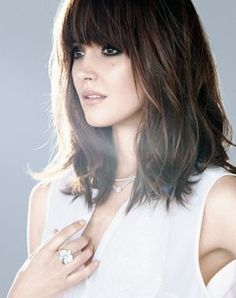 good medium length hairstyles with bangs