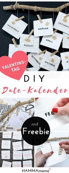 DIY (for Valentine& Day, Father& Day or birthday) with Freebie! ° Make the date calendar yourself ° A personal gift for men - DIY date calendar for him as a gift for Valentine& Day with voucher freebie DIY date calendar - Boyfriend Gift Diy, Presents For Boyfriend, Gifts For Your Girlfriend, Valentines Day Gifts For Him, Valentines Diy, Calendrier Diy, Special Gifts For Him, Saint Valentin Diy, Valentines Bricolage