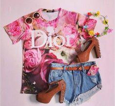 Image result for romwe rose printed midi skirt