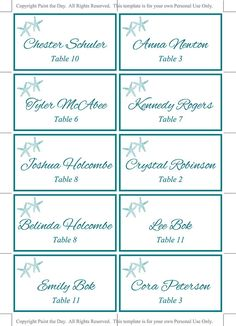 Beach Wedding Itinerary Template Wedding Planner Coral Teal - Wedding place card template word