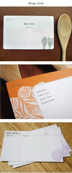 darling recipe cards