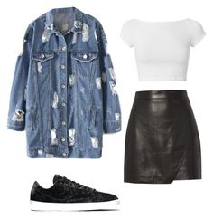 """Back 2 skool #1"" by karinstyleonly on Polyvore featuring NIKE, Michelle Mason and Helmut Lang"