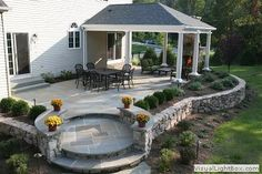 covered stone patio - Google Search