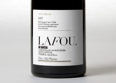 La Fou Celler Identity and packaging by clase bcn , via Behance.  #taninotanino #vinosmaximum