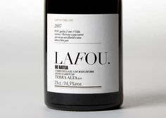 La Fou Celler Identity and packaging by clase bcn , via Behance.  #taninotanino #vinosmaximum
