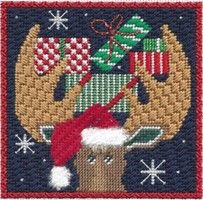Moose Series at The French Knot in Fort Worth! needlepoint ornaments maggie 1603