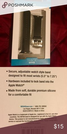 Apple Watchband for 38mm Apple ⌚️ Designer band for use with 38mm Apple ⌚️ Black, Like New, Box was torn open at the top. I will repackage the watchband.My wrist is too thin for the band. Track With iT Accessories Watches