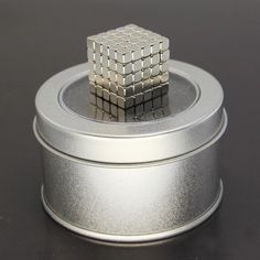 Silver Neodymium Square Magnetic ,Model Building Kits Puzzle NeoKub OF Magnetic Beads With Metal Box - Kid Shop Global - Kids & Baby Shop Online - baby & kids clothing, toys for baby & kid Diy Father's Day Gifts, Father's Day Diy, Cubes, Puzzles, Cube Puzzle, Puzzle Shop, Puzzle Board, Magnetic Beads, Model Building Kits