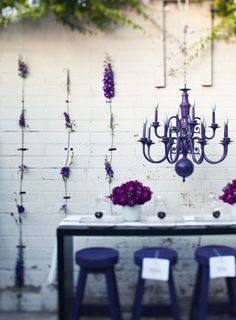 Loveliness. Lavendar for the purple table.
