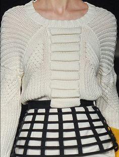 Sass & Bide Fall 2013CROCHET AND TRICOT INSPIRATION: http://pinterest.com/gigibrazil/crochet-and-knitting-lovers/