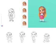 Character Design by Martina Petrova - mip for www.TabTale.com