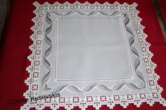 "Hardanger & Bargello Doily ""Twisted Ribbon"" ~t~ Hardanger Embroidery, Cross Stitch Embroidery, Machine Embroidery, Hand Embroidery, Broderie Bargello, Bargello Needlepoint, Drawn Thread, Point Lace, Brazilian Embroidery"