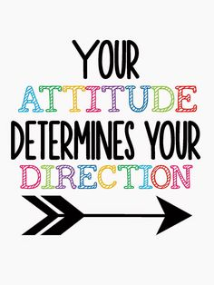 Your Attitude Determines Your Direction #quote