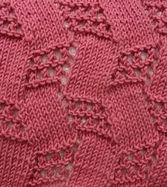 A fun topsy-turvy lace and stockinette stitch pattern