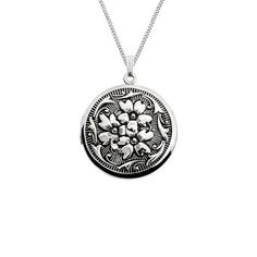 """Sterling Silver Round Embossed Antique Finish Locket Necklace, 20"""" Amazon Curated Collection. $69.00. Made in United States"""