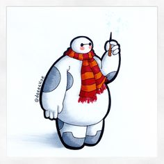 A few people have asked for a Baymax/Harry Potter crossover for quite a while, so here it is! it was really fun to draw Baymax again If you have any suggestions or requests on what to draw Baymax in/as/with then please drop in a comment! Bmax Disney, Kawaii Disney, Disney Facts, Disney Fan Art, Cute Disney Drawings, Cute Drawings, Punk Disney Princesses, Disney Characters, Disney Movies