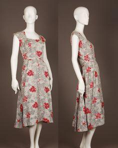 50s cotton day dress