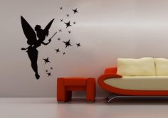 """CLAIRE In lieu of tacky tinker bell stickers, looking for much smaller fairy """"shadows"""" for her room.  :)"""