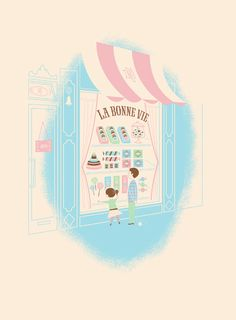 La Bonne Vie Shop by Lab-Partners.  Love the detail ta they were able to do with just 4 colors