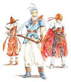 The men of Tales of Phantasia Character Concept, Concept Art, Tales Of Phantasia, Tales Of Vesperia, Tales Series, D Gray Man, Reborn Katekyo Hitman, Vampire Knight, Doujinshi