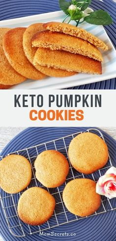 These cookies have a soft and fluffy texture. Pumpkin cookies are Keto low carb sugar-free grain-free and taste so delicious! These cookies have a soft and fluffy texture. Pumpkin cookies are Keto low carb sugar-free grain-free and taste so delicious! Keto Foods, Ketogenic Recipes, Keto Snacks, Ketogenic Diet, Keto Cookies, Pumpkin Cookies, Cookies Et Biscuits, Chip Cookies, Almond Cookies