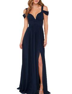 LovingDress Women's Prom Dress Chiffon Bridesmaid Dress A Line Evening Dress: Amazon Fashion