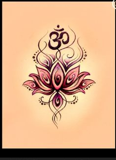 Beautiful lotus & om tattoo idea!! Maybe on my underarm??