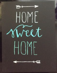 home sweet home canvas, arrows