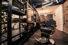 loft interior, barbershop, beautyshop