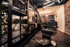 loft interior, barbershop, beautyshop