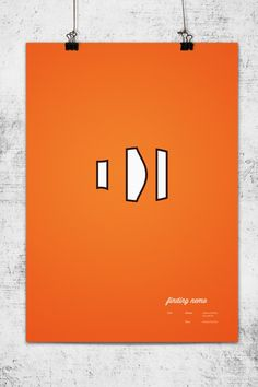 I could see this in a kid's room - or my room!!!  Minimalistic Pixar Poster Series - Finding Nemo via Kristoffer Akesson