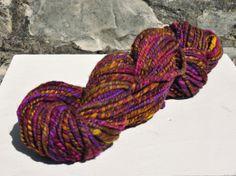 Handspun Art Yarn double ply 'She Ra' hand dyed by Innerspiral, £44.00