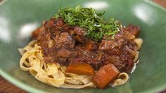 Red wine lamb shank ragu with egg fettuccine Recipe from Everyday Gourmet with Justine Schofield