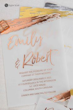 elegant custom brushed rose gold gold silver foil vellum wedding invitations SWFI018 #wedding #weddinginvitations#stylishwedd #stylishweddinvitations #vellumweddinginvitations