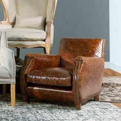 Add this Rocket Leather Chair in Eldorado Whiskey to your home and your guests will never want to leave when they sit on this stylish, comfortable, and quality built piece of furniture.