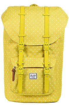 The Little America Backpack in Apple Polka Dot by Herschel Supply