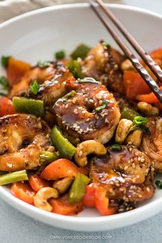 Kung Pao Shrimp Recipe (宫爆虾球) - Learn how to make juicy and tender shrimp with the most scrumptious Kung Pao sauce. A easy one bowl dinner. Shellfish Recipes, Shrimp Recipes, Asian Recipes, Healthy Recipes, Ethnic Recipes, Chinese Recipes, Hawaiian Recipes, Japanese Recipes, Asian Foods