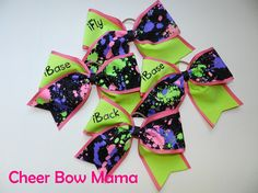 Stunt Group (iFly, 2-iBase, iBack) Cheer Bows Matching Set by Cheer Bow Mama