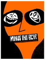 Minus The Bear Poster - Warehouse Live, Houston - Zach Hobbs