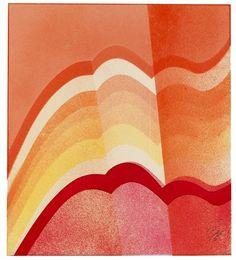 Red Wave by Kazuo Shiraga