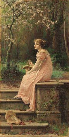 Peach And Green, Pre Raphaelite, Portraits, Victorian Art, Classical Art, World Of Color, Renaissance Art, Art World, Female Art
